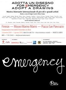 Invito alla mostra Adotta un Disegno promossa da Emergency